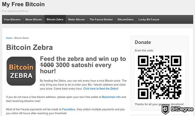 Free Bitcoin con il faucet di freebitcoin